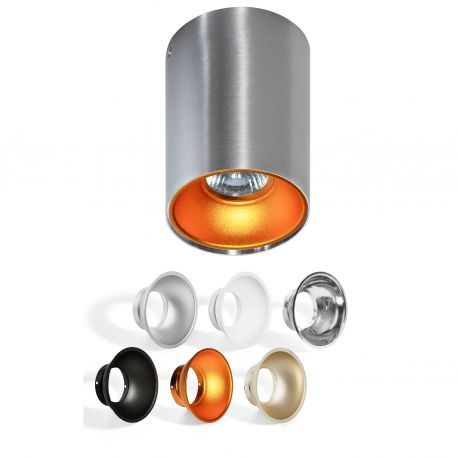 Plafoniere cu spoturi, Spoturi aplicate - Spot aplicat tavan/plafon stil modern Remo Aluminiu