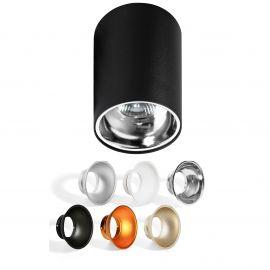 Plafoniere cu spoturi, Spoturi aplicate - Spot aplicat tavan/plafon stil modern Remo negru