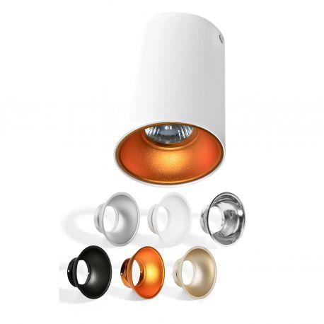 Plafoniere cu spoturi, Spoturi aplicate - Spot aplicat tavan/plafon stil modern Remo alb
