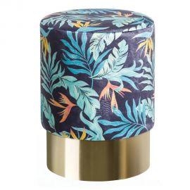 Banchete-Tabureti - Taburete elegant Titan design frunze albastru-verde