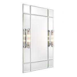 Oglinda design LUX finisaj nickel, Beaumont cu iluminat, 90x140cm