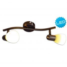 Plafoniere cu spoturi, Spoturi aplicate - Plafoniera cu 2 spoturi E14 LED Mestre