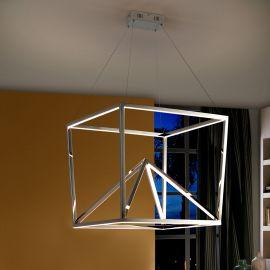 Lustra LED design ultra-modern Oblic otel inoxidabil