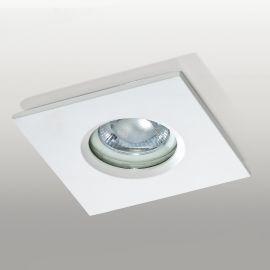 Spoturi - Spot de exterior incastrabil IP65 IKA SQUARE alb