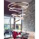 Corpuri de iluminat Lustre pentru casa scarii - Lustra LED dimabila design modern casa scarii Wheel 6 Long aurie