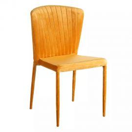 Seturi scaune, HoReCa - Set de 2 scaune Lidia, catifea galben-auriu
