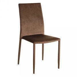 Seturi scaune, HoReCa - Set de 2 scaune Anteo, catifea taupe antic