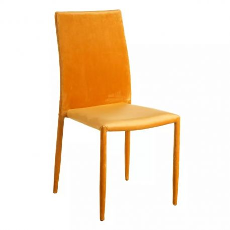 Seturi scaune, HoReCa - Set de 2 scaune Anteo, catifea galben-auriu