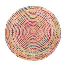 Covor rotund din iuta TANNIS 120cm, multicolor