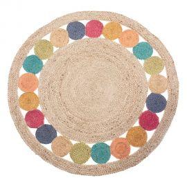 Covoare - Covor rotund din iuta TANNIS 120cm, multicolor