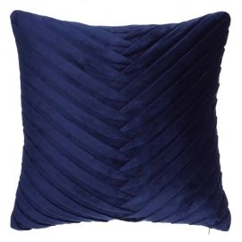 Perna 45x45cm MAREA, catifea albastra