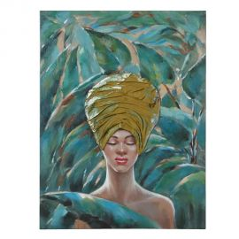 Tablouri - Tablou decorativ, pictura pe panza Africana, 76x100cm