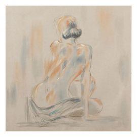 Tablou decorativ, pictura pe panza Nudo, 80x80cm
