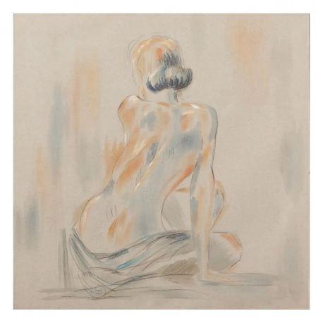 Tablouri - Tablou decorativ, pictura pe panza Nudo, 80x80cm