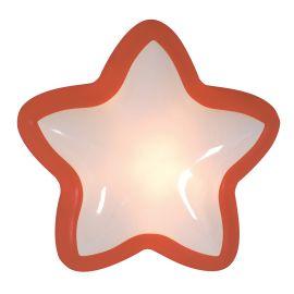 Lampa touch cu baterii pentru camera copii Jasper star, rosu