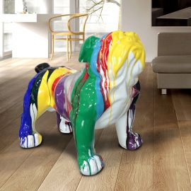 Figurina decorativa caine Bulldog XXL multicolor