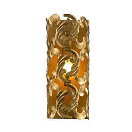 Aplice, corpuri de iluminat pentru pereti - Aplica din metal, design baroc, Dorata