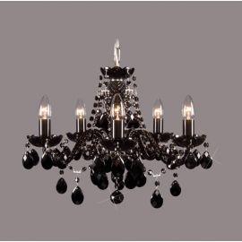 Lustra 5 brate cristal Bohemia, black