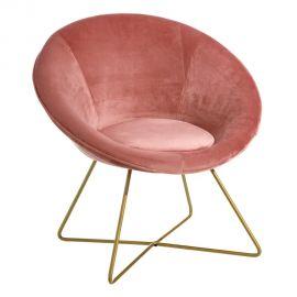 Fotolii - Fotoliu confortabil design modern Anna, catifea roz