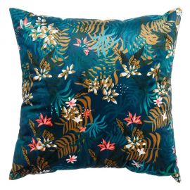 Perna albastra cu motiv floral FLOWERS, 45x45cm