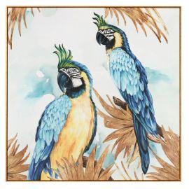 Tablouri - Tablou decorativ Papagali, 114x114cm
