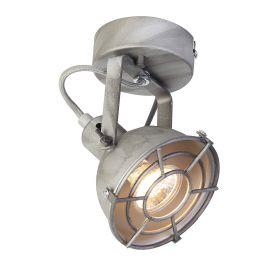 Aplice, corpuri de iluminat pentru pereti - Aplica de perete / tavan industrial style Lichtwerfer gri