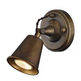 Aplice, corpuri de iluminat pentru pereti - Aplica perete industrial style GLOCKE bronz antic