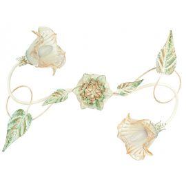 Lustra aplicata eleganta design clasic floral 2 brate I-PRIMAVERA