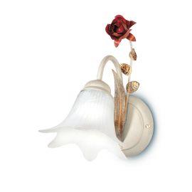 Aplice, corpuri de iluminat pentru pereti - Aplica de perete eleganta design clasic floral ROSE