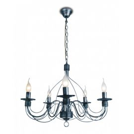 Candelabre, Lustre - Candelabru stil rustic cu 5 brate Spagna negru antracit