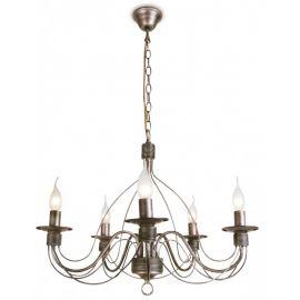 Candelabre, Lustre - Candelabru stil rustic cu 5 brate Spagna maro ruginiu