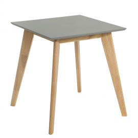 Mese dining - Masa design nordic Scandinavia 70cm, gri/ stejar