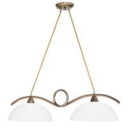 Candelabre, Lustre - Lustra stil clasic HALLEY bronz/alb