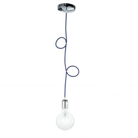 Pendule, Lustre suspendate - Pendul modern stil minimalist Idea crom-blue