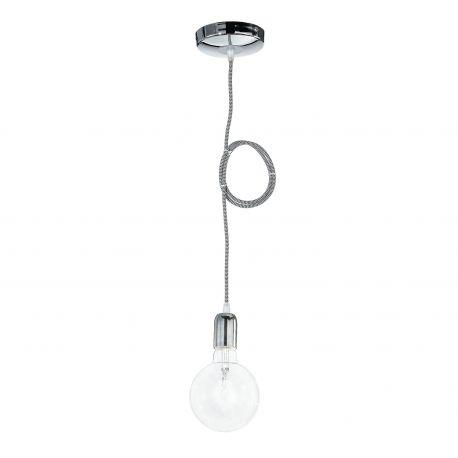 Pendule, Lustre suspendate - Pendul modern stil minimalist Idea crom-negru/alb