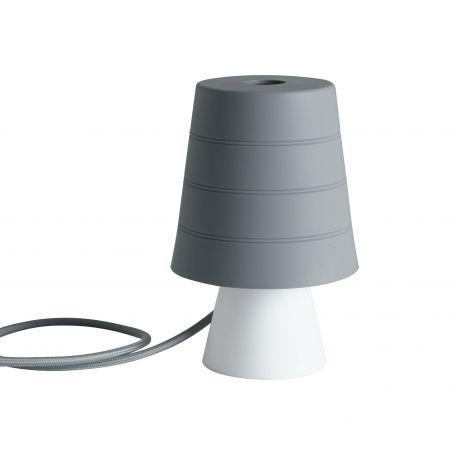 Iluminat pentru copii - Veioza / Lampa de masa camera copii Drum gri