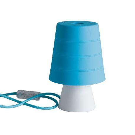 Iluminat pentru copii - Veioza / Lampa de masa camera copii Drum albastra