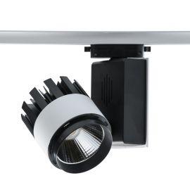 Spot LED directionabil pe sina Rondo II negru/alb 30W