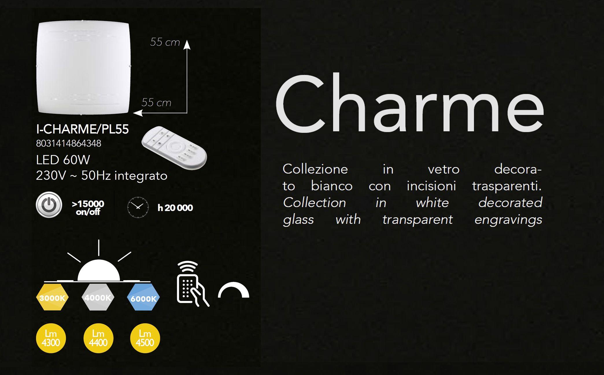 Plafoniera Led Cu Telecomanda : Corpuri de iluminat plafoniera led cu telecomanda charme pl55
