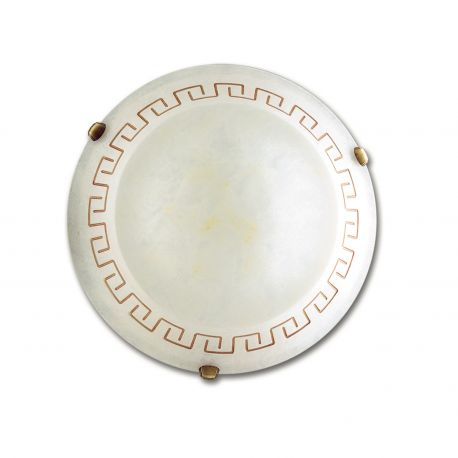 Plafoniere - Plafoniera clasica sticla decorata Trecento Ø30cm