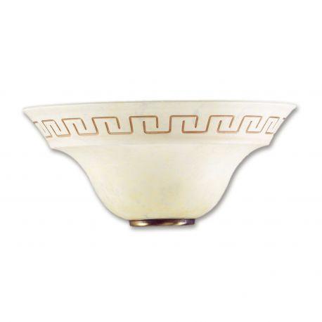 Aplice, corpuri de iluminat pentru pereti - Aplica de perete clasica sticla decorata Trecento