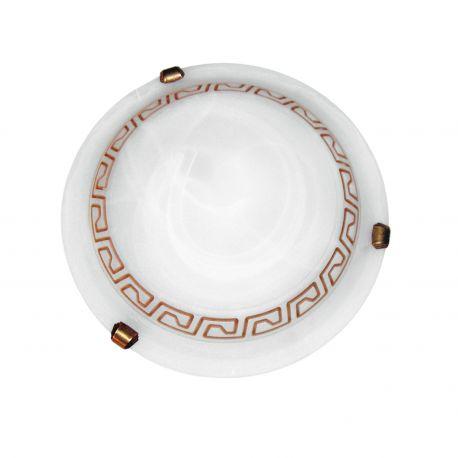 Plafoniere - Plafoniera sticla alabastru Ø30cm Polonia