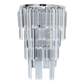 Aplice, corpuri de iluminat pentru pereti - Aplica de perete cristal design elegant Adelard crom