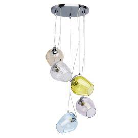 Pendule, Lustre suspendate - Lustra design modern cu 5 pendule Bremen multicolor