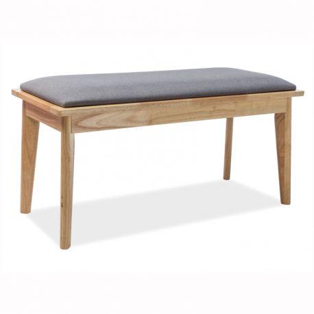 Banchete-Tabureti - Bancheta din lemn cu sezut tapitat BRANDO, stejar/ gri
