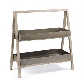 Raft IN& OUT din lemn si ciment STAHL Shelf 97