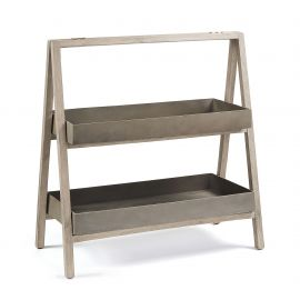 Mobilier terasa - Raft IN& OUT din lemn si ciment STAHL Shelf 97