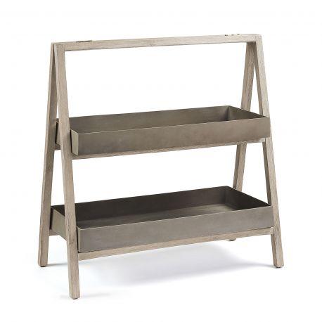 Mobilier terasa - Raft IN& OUT din lemn si ciment STAHL Shelf 97