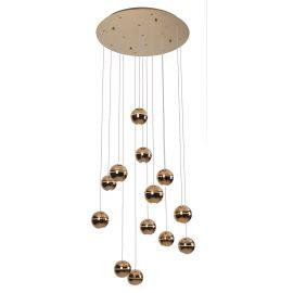 Candelabre, Lustre - Lustra LED design ultra-modern ZEN 13L cupru