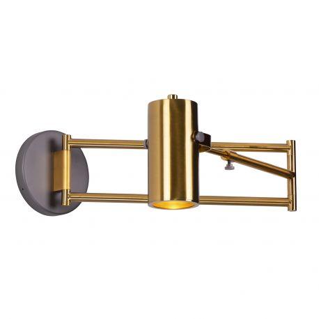 Aplice, corpuri de iluminat pentru pereti - Aplica cu brat directionabil design modern minimalist VARSOVIA alama